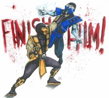 Scorpion vs. Sub-Zero by elguapo6