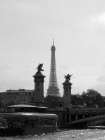 Eiffel Tower through Pont Alexandre III by ausrejurke