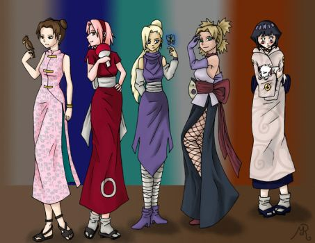 Naruto, the girls by argentum-moon