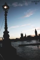 London Skyline Silhouette by CiindyCore