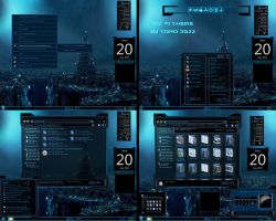 windows 7 theme blue sci fi glass by tono3022
