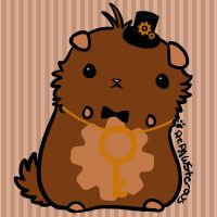Steampunk hamster adoptable [CLOSED] by Azukii-chan
