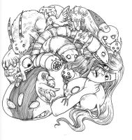 Monster Dogpile by secondlina