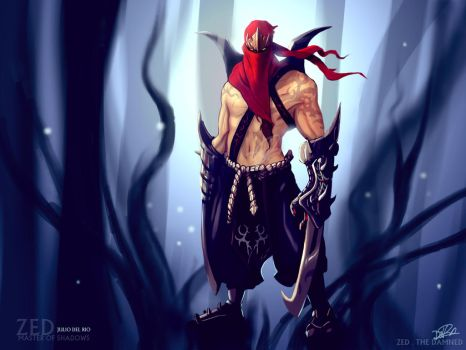 Zed - The Damned - League of Legend by juliodelrio
