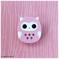 Sweet Acrylic Owl by littlepaperforest
