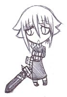 Chibi Crona Sketch by HamsterParade