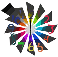 Colourful Clock :Animated: by GearWorkStudios