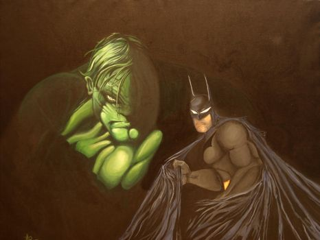 HULK AND THE BATMAN by ARTIEFISHEL79