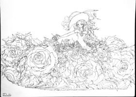 yellow rose girl WIP by dolls-of-paradox