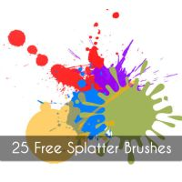 25 Splatter brushes by emperorwarion