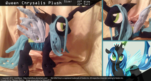 Queen Chrysalis Plush by IrashiRyuu