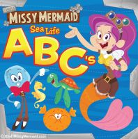 Little Missy Mermaid  ABC Book Cover by MyPetDinosaur