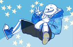 My main man sans by Nikutsune