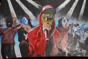 Signed Hollywood Undead Drawing by Wyldfire7