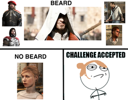 Beard Challenge Accepted by Kitleah