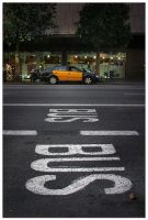 Taxi or bus ? by UrbanShots