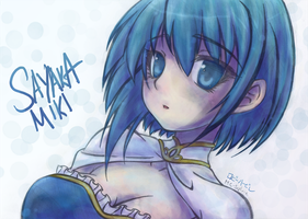 Sayaka Miki Colored by Marraphy