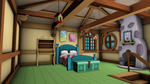 Fluttershy's Cottage - Game Models (Bedroom) by discopears