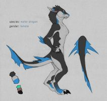 Water dragon anthro ref - prize by Kium