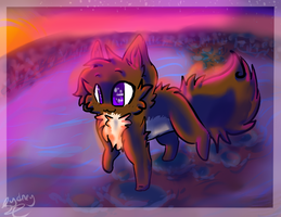 :FA: Stone Walk at Sunset by Freckled-Kat