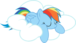 Rainbow Dash - Asleep by abydos91