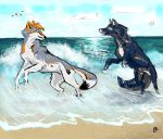 Yuuma and Jenn at the Beach by Starquilled