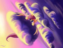 Fiery sunset by freeedon