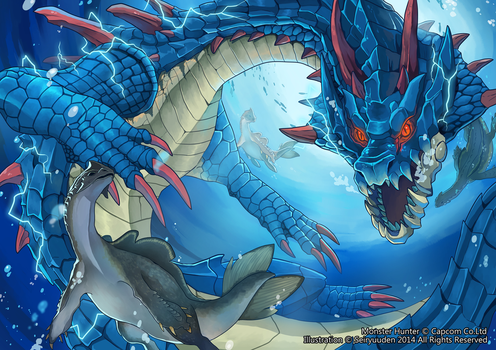 Lord of The Seas Lagiacrus by seiryuuden