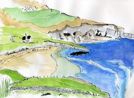 Sandy Bay With House North Coast499 by merearthling