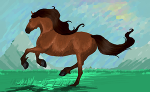 Prarie Canter Digital Oil by Seraphiima-Stables