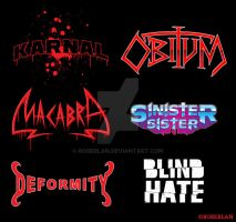 Rock Bands Fake Logos by roberlan