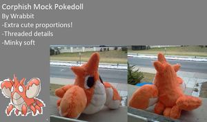 Corphish Pokedoll by theamazingwrabbit