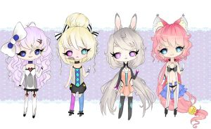 chibi adoptables CLOSED by Bonelo