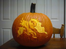 Princess Luna Pumpkin (Unlit) by elviswjr
