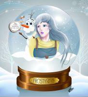 Frosty and Olaf... and mini snowman by babyjepux