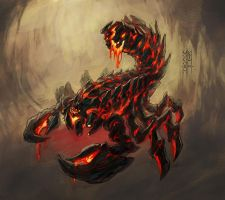 Neverwinter - Tyranny of Dragons - Lava Scorpion by MinohKim