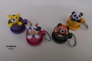 Paper keychains by sombra33
