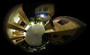 Mini Planet - Night Buildings by electricjonny