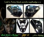 Loki's Army black acrylic tag/badge V2 by J-C