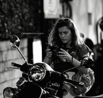 Vespa, Camera and Girl by carlospinto