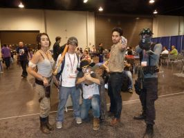 Sam Fisher meets Lara Croft and The Walking Dead by W4RH0US3