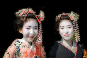 double smile in Kyoto by Rikitza