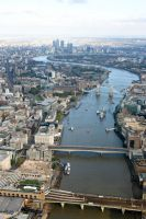 Aerial View Down the Thames by fruitycube