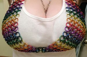 Front View Chainmail Bra by kinyo-spoons