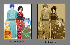 Before/After GIMP: Family of Four by kokorohane