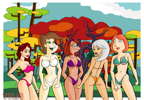 Cartoon Bikini I by TULIO19mx