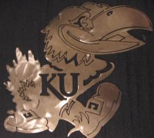 Stainless Steel Kansas Jayhawk by Pyrrhikhos