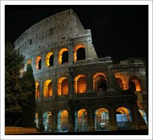 Colosseum at Night by Mar1lyn84