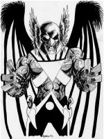 Sketch 082 of 100 BLACK LANTERN HAWKMAN by misfitcorner