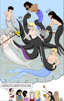 Artrade Underwater Mermaid Battle (WARNING NUDITY) by SailorEnergy